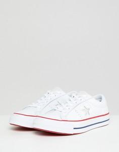 Белые кожаные кроссовки Converse One Star - Мульти
