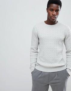 Джемпер крупной вязки из 100% хлопка Selected Homme - Серый