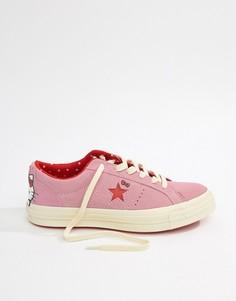 Кроссовки Converse X Hello Kitty One Star - Розовый