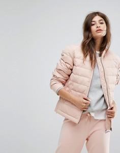 Розовая дутая куртка Converse - Розовый