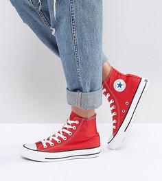 Красные высокие кроссовки Converse Chuck Taylor - Красный