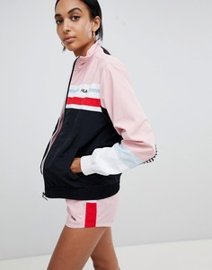 Спортивная куртка колор блок от комплекта в стиле ретро Fila - Мульти
