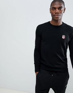 Джемпер с логотипом на груди Love Moschino - Черный