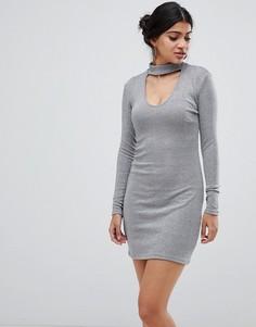 Платье с чокером Glamorous - Серебряный