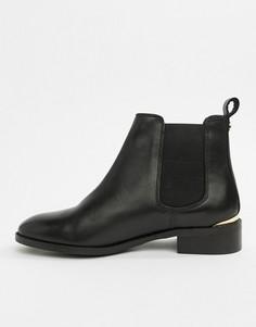 Черные кожаные ботинки челси Office Bramble - Черный