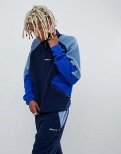Темно-синяя флисовая куртка adidas Originals EQT DH5195 - Темно-синий
