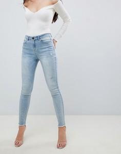 Светло-синие джинсы со стразами Lipsy - Синий