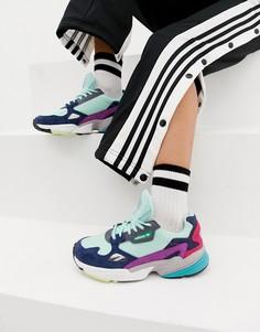 Мятные кроссовки с разноцветными вставками adidas Originals Falcon - Зеленый