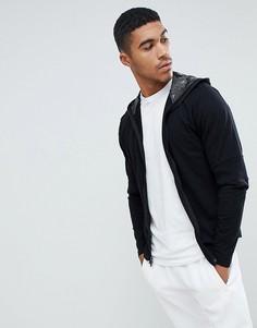 Куртка с капюшоном на молнии Ringspun - Черный