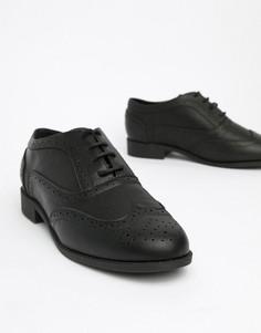 Броги на шнуровке London Rebel - Черный