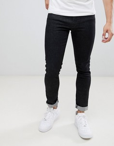 Черные зауженные джинсы стретч с 5 карманами Armani Exchange J14 - Черный