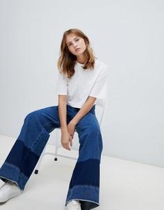 Широкие джинсы колор блок Waven Nella - Синий