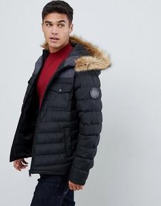 Дутая куртка колор блок Burton Menswear - Черный