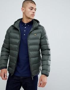 Легкая дутая куртка Lyle & Scott - Зеленый