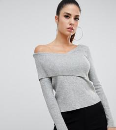 Джемпер с открытыми плечами Parallel Lines - Серый
