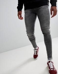 Серые супероблегающие джинсы Dr Denim Leroy - Серый