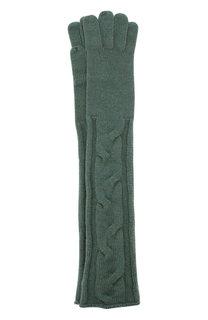 Удлиненные кашемировые перчатки фактурной вязки Loro Piana