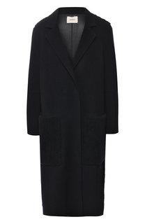 Шерстяное пальто с меховой отделкой Dorothee Schumacher