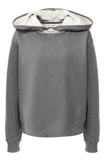 Хлопковый пуловер с капюшоном J.W. Anderson