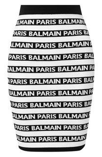 Мини-юбка с логотипом бренда Balmain