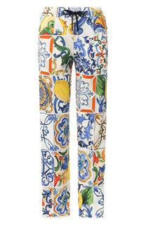 Брюки прямого кроя с принтом Dolce & Gabbana