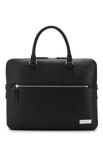 Кожаный портфель Berna с плечевым ремнем Bally