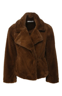 Куртка из эко-меха с отложным воротником Vince