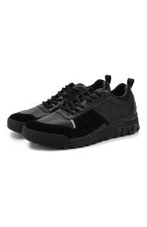 Кожаные кроссовки на шнуровке Kenzo