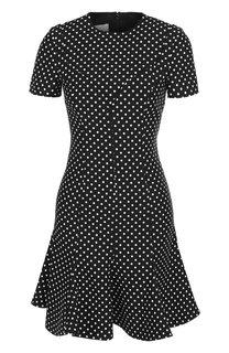 Приталенное мини-платье из смеси шерсти и шелка Valentino