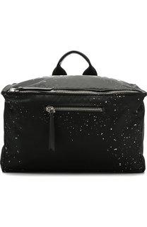 Текстильная сумка Pandora с плечевым ремнем Givenchy
