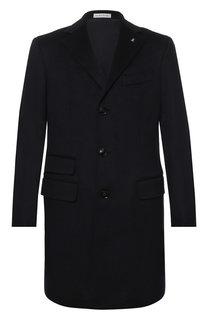 Кашемировое однобортное пальто Sartoria Latorre