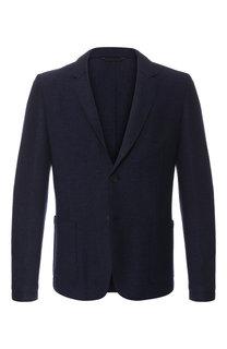 Однобортный пиджак из смеси шерсти и вискозы HUGO