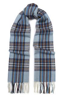 Шерстяной шарф с бахромой AD56