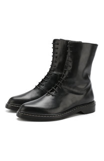 Кожаные ботинки Fara на шнуровке The Row