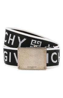 Текстильный ремень с металлической пряжкой Givenchy