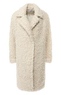 Однотонное пальто с отложным воротником Vince