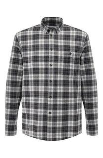 Рубашка из смеси кашемира и шерсти с хлопком с воротником button down Givenchy