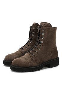 Высокие замшевые ботинки Chris на шнуровке Giuseppe Zanotti Design