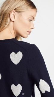 Chinti and Parker Metallic Heart Sweater