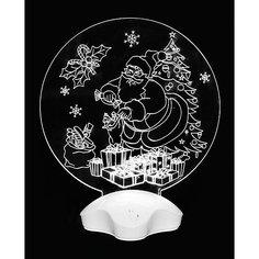"""Новогодний светильник Magic Land """"Дедушка Мороз и подарки"""" Волшебная Страна"""