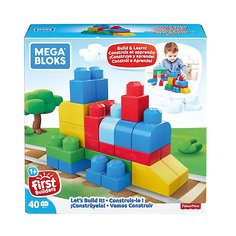 """Конструктор MEGA BLOKS """"Строим и развиваемся"""", 40 деталей Mattel"""