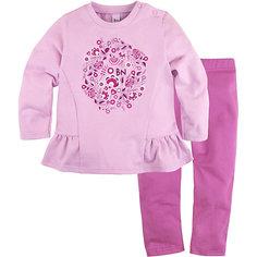 Комплект: футболка с длинным рукавом, леггинсы Bossa Nova для девочки
