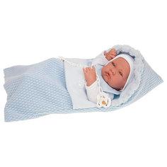 Кукла-младенец Juan Antonio Munecas Нестор в голубом, 42 см