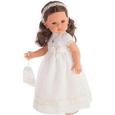 Кукла Juan Antonio Munecas Белла Первое причастие, брюнетка в кремовом платье, 45 см