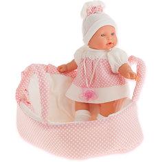 Кукла Juan Antonio Munecas Лана в корзине, плачущая, 27 см