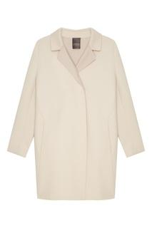 Бежевое пальто средней длины Lorena Antoniazzi