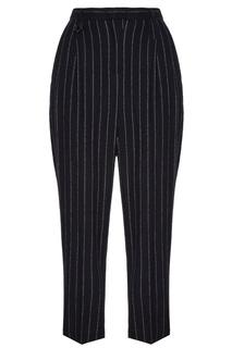Черные брюки в полоску Lorena Antoniazzi