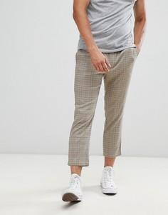 Укороченные брюки в клетку Only & Sons - Коричневый