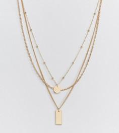 Золотистое ярусное ожерелье Missguided - Золотой