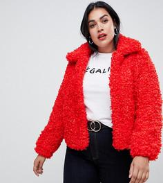 Красная куртка из искусственного меха River Island Plus - Красный